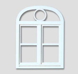 Fenêtre en baie de panier avec des barres rondes, couleur: blanc